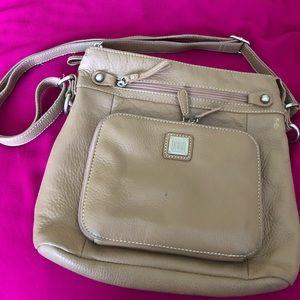 Giani Bernini Crossbody Taupe Bag